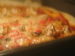 Pizza Baking in Oven Stock Footage