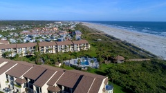 Aerial beaches St. Augustine 4k 60p Stock Footage