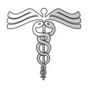 Asclepius rod icon image Stock Illustration