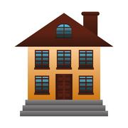 Expensive looking family house icon image Stock Illustration