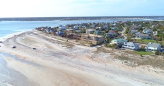 Vilano Beach Florida Aerial video 4k 60p Stock Footage