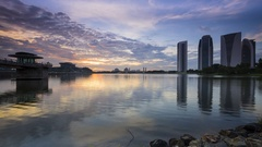 Time lapse scenery at putrajaya Stock Footage