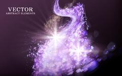 Purple light streak Stock Illustration