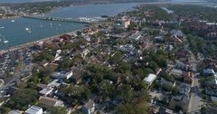 4k aerial video St Augustine Florida 60p Stock Footage