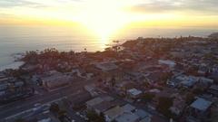 4K Flying Over Laguna Beach - Towards the Ocean Stock Footage