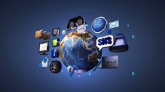 Car infotainment system, network. car connect internet, social media service. Stock Footage