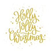 Quote Holly Jolly Christmas Stock Illustration