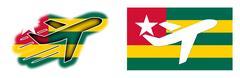 Nation flag - Airplane isolated - Togo Stock Illustration
