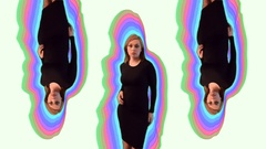 3 Opposing Model Dances On Color Stock Footage
