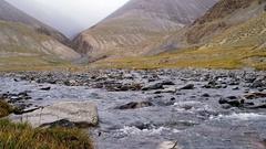 Mountain river Suek. Issyk Kul region, Kyrgyzstan Stock Footage