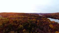 Upstate New York Fall Foliage - drone footage - 4k Stock Footage