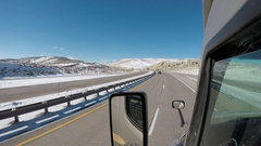 Exterior Semi-Truck - Rural Idaho Interstate  Stock Footage