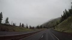Elevated POV - Oregon, USA Interstate 84 Columbia River Gorge  Stock Footage