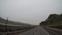 Editorial - Elevated POV - Oregon, USA Interstate 84 Columbia River Gorge  Stock Footage