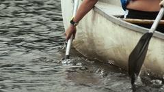 Slow Motion Canoe Paddle Stock Footage