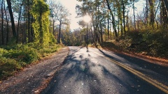 Back road in upstate New York during the fall - 4k Stock Footage