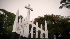 Jesus Christ Monument Stock Footage