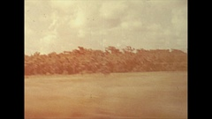 Vintage 16mm film, 1946, Florida drive plate, POV on the highway, Stock Footage