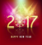 Happy new year 2017 holiday background Stock Illustration