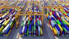 Cargo port looped animation Stock Footage