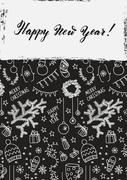 Modern vector New Year card or party design Piirros