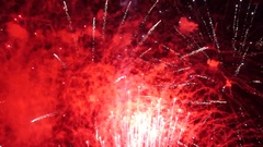 Fireworks and smoky traces in sky Stock Footage
