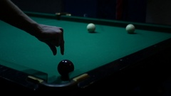 Indicate where to strike on the ball Stock Footage
