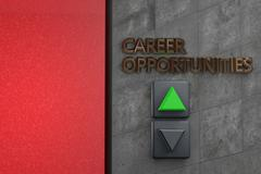 """Elevator with """"Career opportunities"""" words Piirros"""