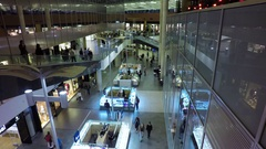 Timelapse at shopping mall Stock Footage