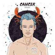 Astrological horoscope sign Cancer Stock Illustration