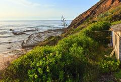 Natural amphitheater on beach (Algarve, Portugal). Stock Photos