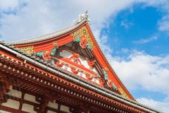 Beautiful Architecture at Sensoji Temple around Asakusa area in Japan Stock Photos