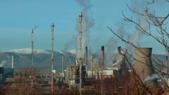 Grangemouth Oil Refinery, Scotland Stock Footage