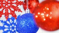 Christmas bright festive background.  Stock Footage