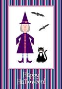Funny little witch Stock Illustration