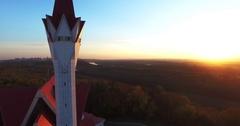 Lala Tulpan mosque in Ufa sunset, Russia Stock Footage