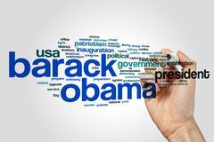 Barack Obama word cloud Stock Photos