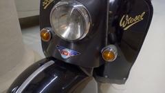 Vintage Industriewerke Ludwigsfelde motorbike motorcycle, Germany Stock Footage