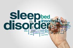 Sleep disorder word cloud concept Stock Photos