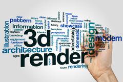 3D render word cloud Stock Photos