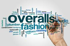 Overalls word cloud Stock Photos