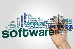 Software word cloud Stock Photos