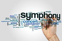 Symphony word cloud Kuvituskuvat