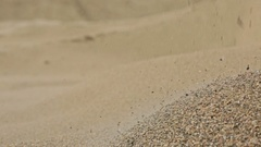 Plant for the separation of river gravel Stock Footage