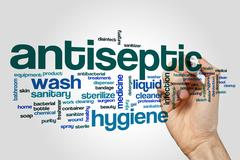 Antiseptic word cloud Stock Photos