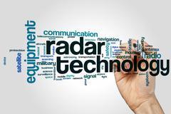 Radar technology word cloud Kuvituskuvat