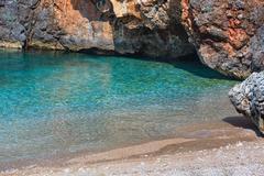 Summer Ionian sea coast, Albania. Stock Photos