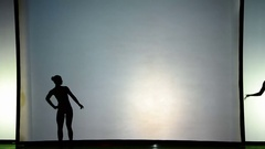 Light and shade, actors on the shooting stage. Stock Footage