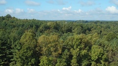 FLYING OVER COUNTRY HOME IN PRETTY HILLS Stock Footage