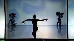 Light and shade, beautiful choreography. Stock Footage